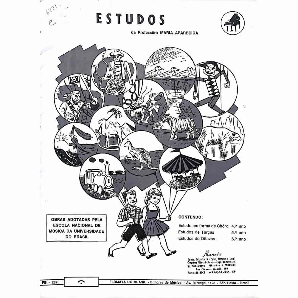 Método Partitura Piano - Estudos - Professora Maria Aparecida