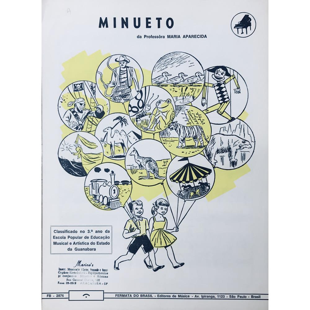 Método Partitura Piano - MINUETO - Prof. Maria Aparecida