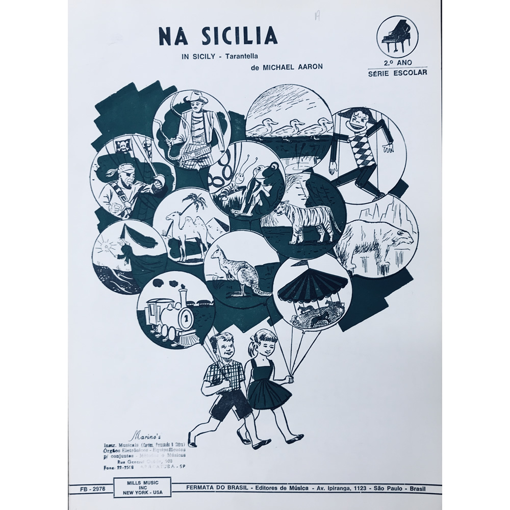 Método Partitura Piano - NA SICILIA - Michael Aaron