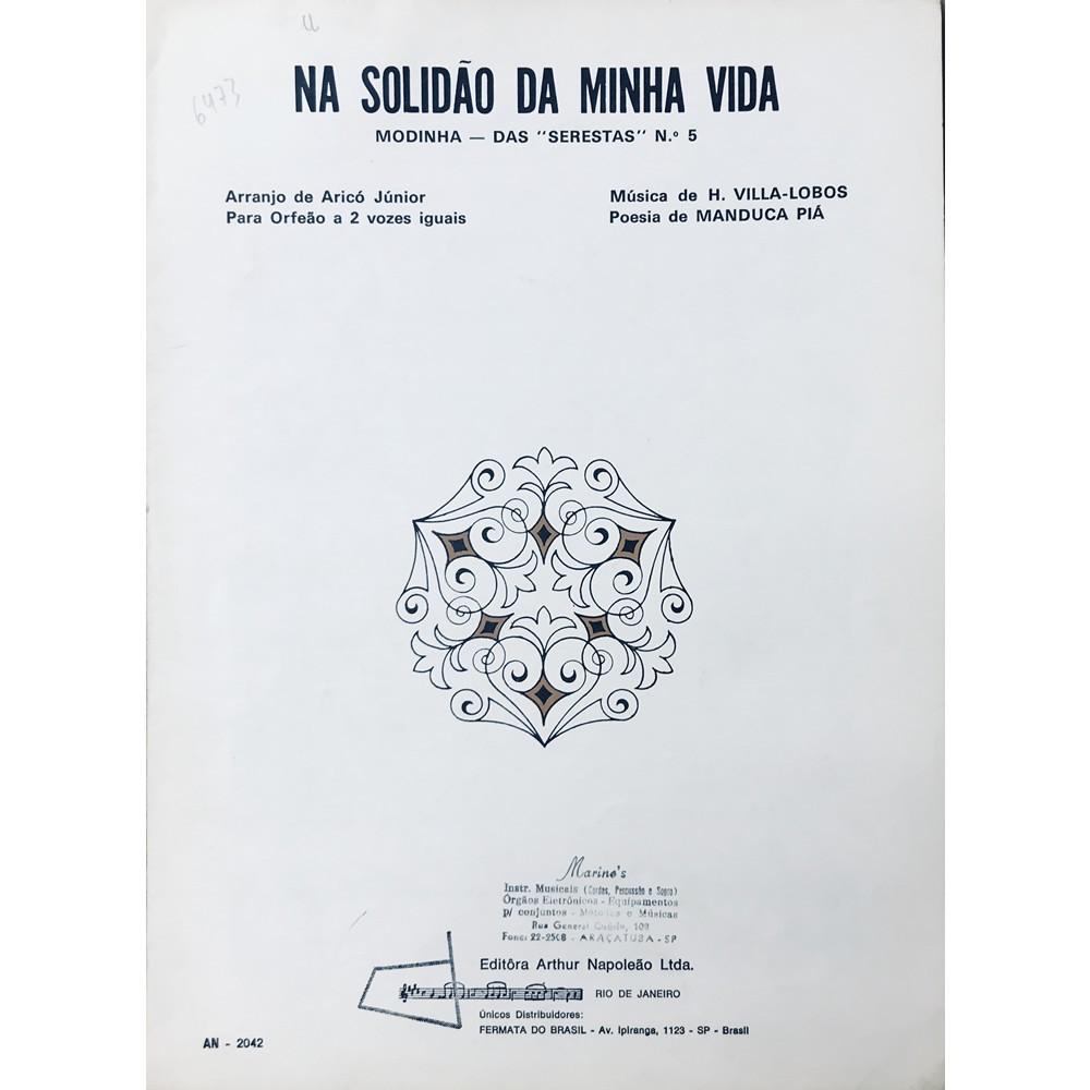 Método Partitura Piano - Na Solidão da Minha Vida - Modinha - Das