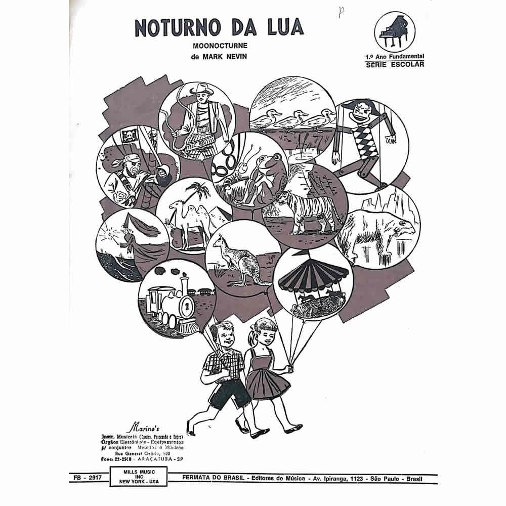 Método Partitura Piano - NOTURNO DA LUA - Mark Nevin