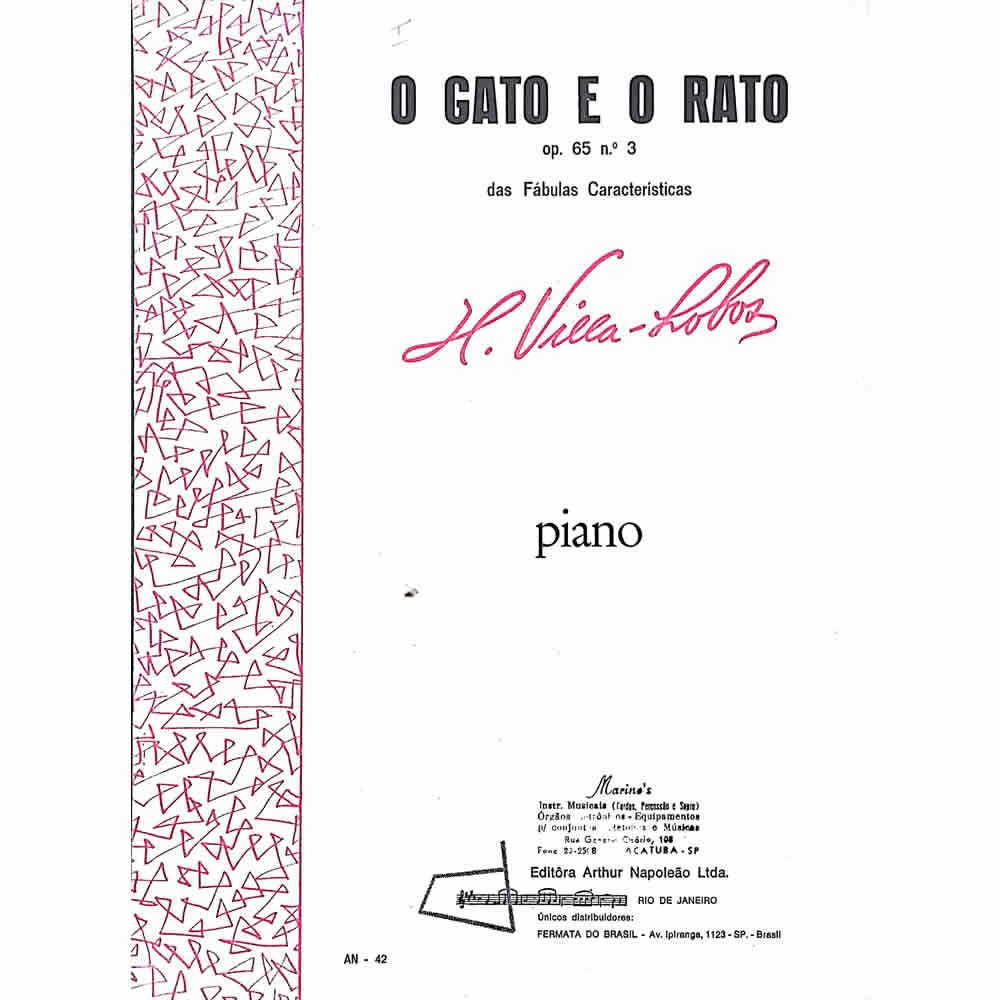 Método Partitura Piano - O GATO E O RATO - H. Villa Lobos - OP 65 Nº 3