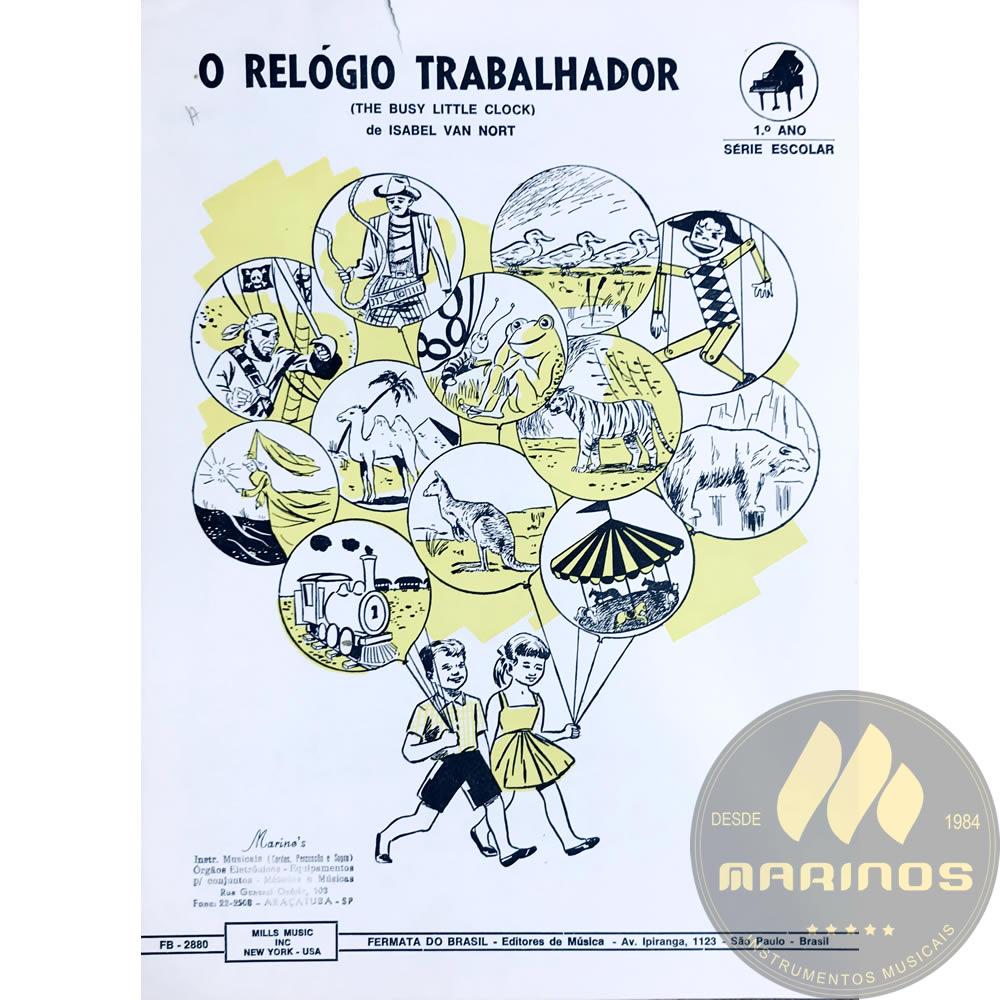 Método Partitura Piano - O RELÓGIO TRABALHADOR - Isabel Van Nort