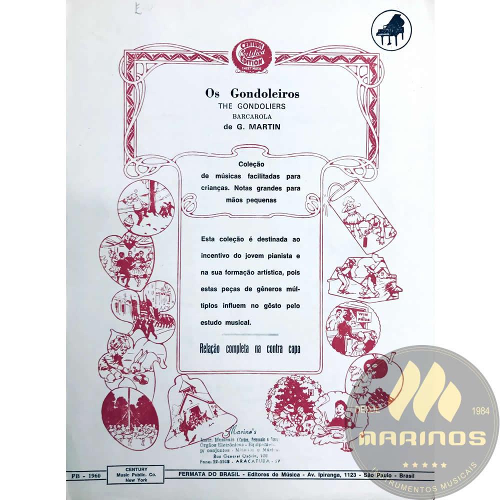 Método Partitura Piano - Os Gondoleiros - G. Martin