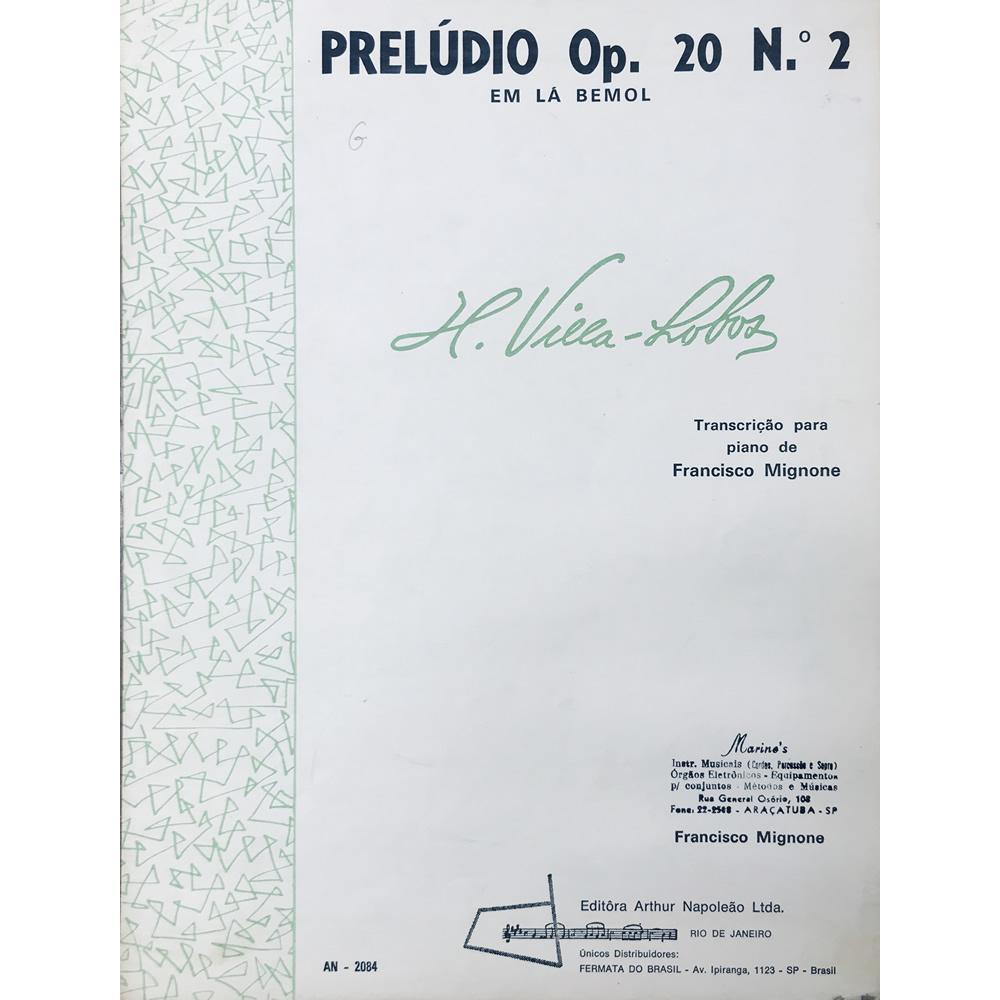 Método Partitura Piano - PRELÚDIO OP. 20 Nº 2 Em LÁ BEMOL - H. VILLA LOBOS