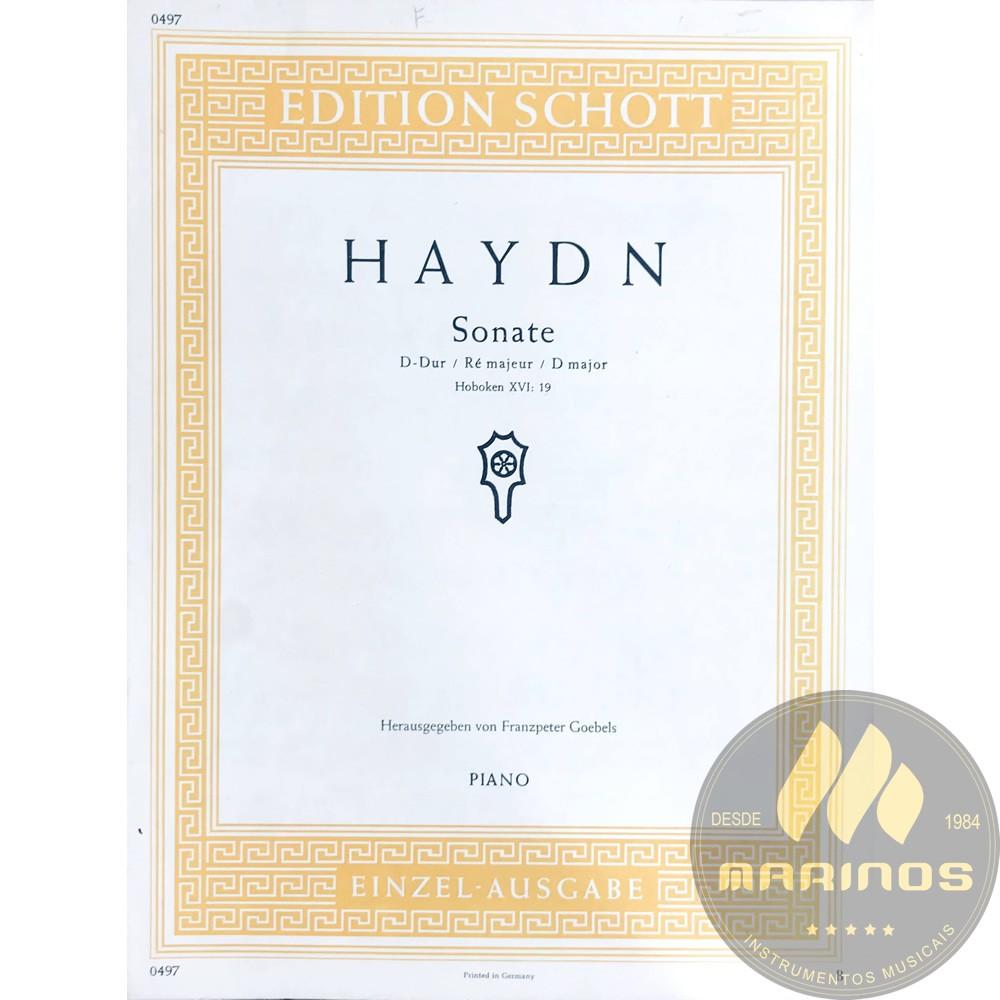 Método Partitura Piano - Sonata em Ré Maior Hoboken XVI 19 - Joseph Haydn