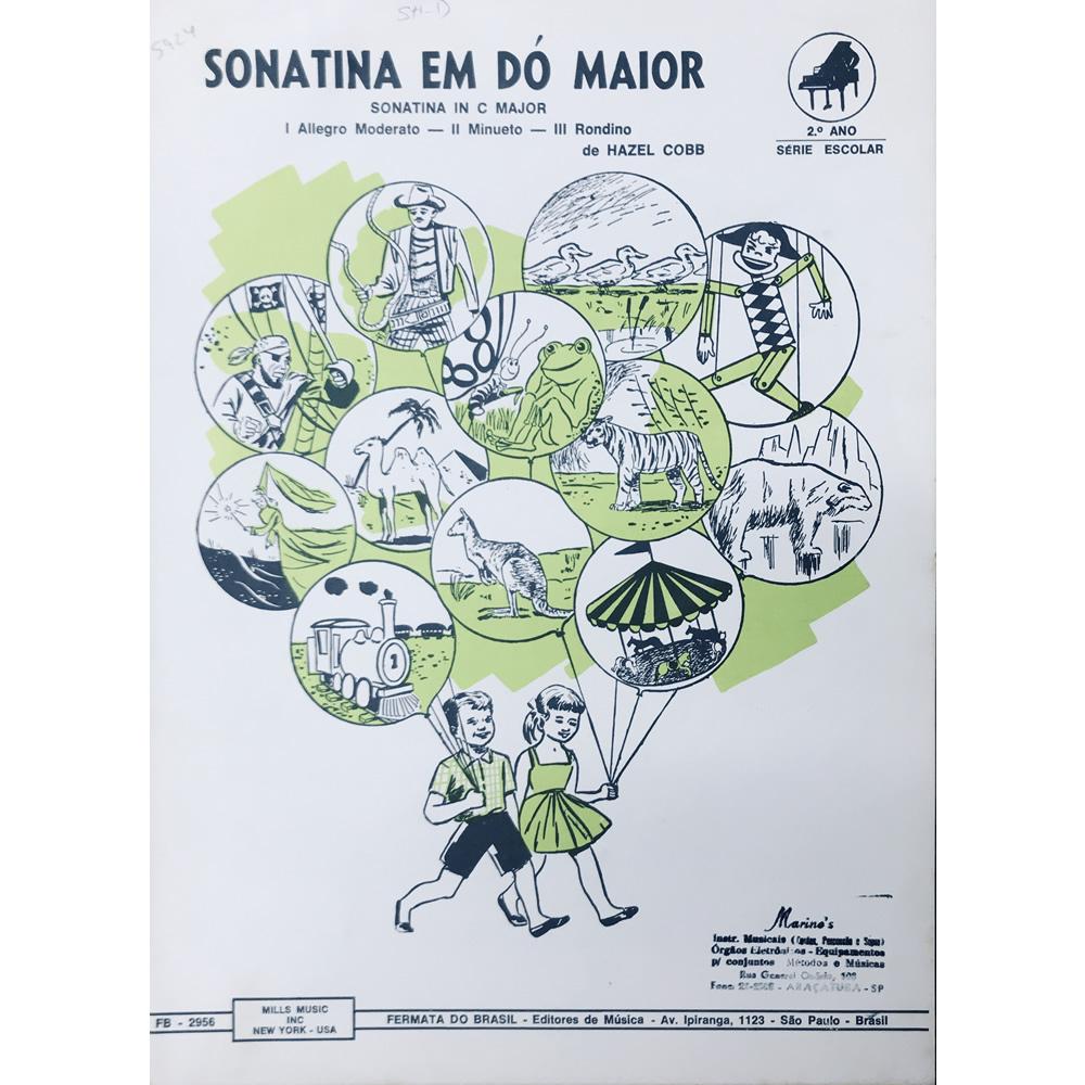 Método Partitura Piano - SONATINA EM DÓ C MAIOR - Hazel Cobb