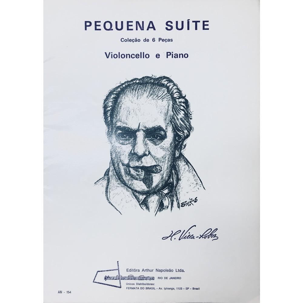 Método Partitura Violoncelo Piano - PEQUENA SUÍTE - Coleção de 6 Peças - H. Villa Lobos