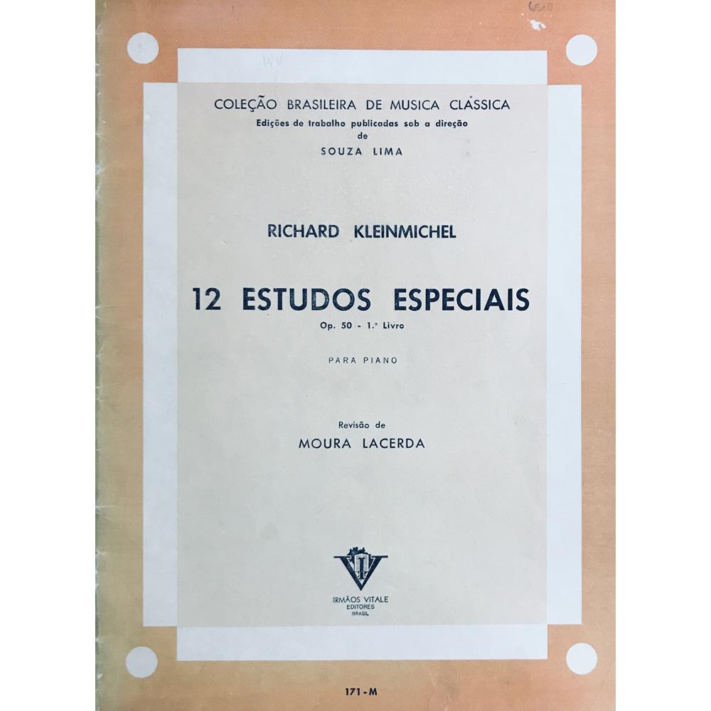 Metodo Piano - 12 Estudos Especiais Op.50  Vol 1 - Richard Kleinmichel