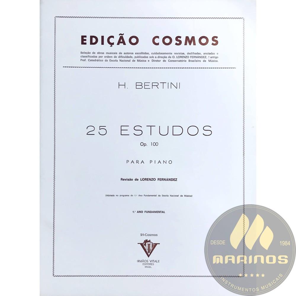 Método Piano - 25 Estudos  Op.100 - H. Bertini