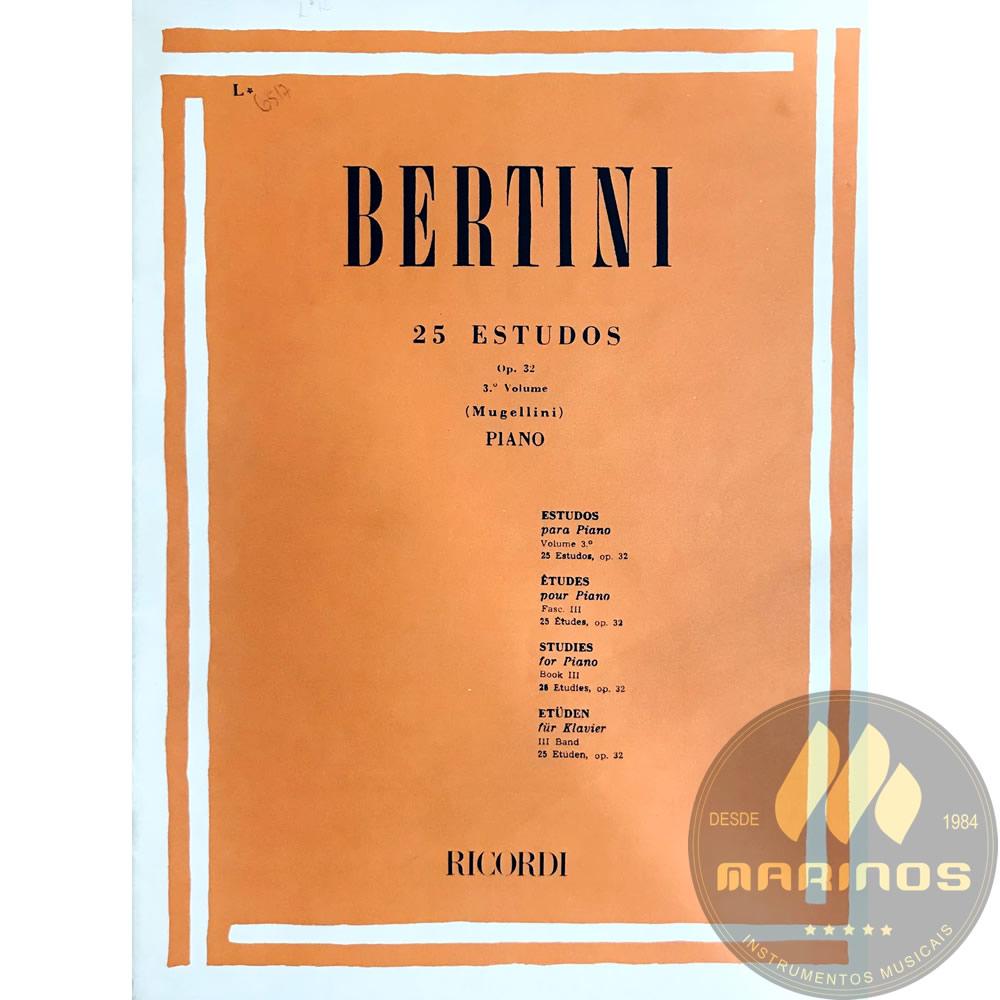 Método Piano - 25 Estudos Op. 32 Vol 3 - H. Bertini