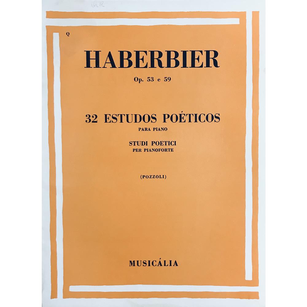 Método Piano - 32 Estudos Poéticos Op. 53 e 59 - Haberbier