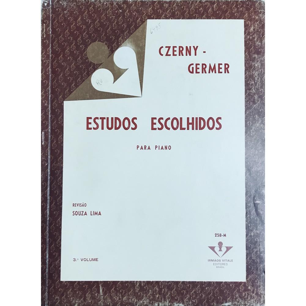 Método Piano - Estudos Escolhidos para Piano 3º Volume - CZERNY GERMER