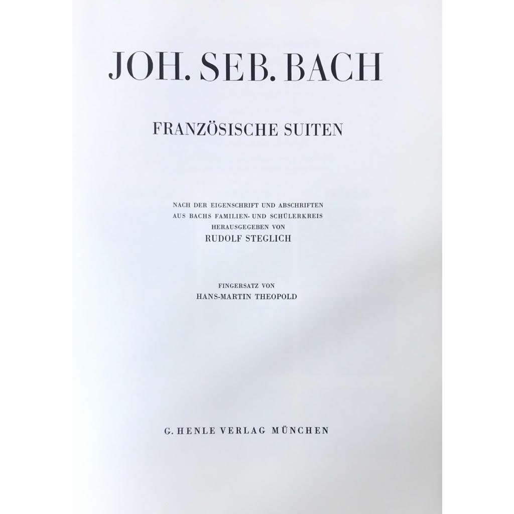 Método Piano - Franzosische Suiten BWV 812-817 J.S. Bach  Urtext