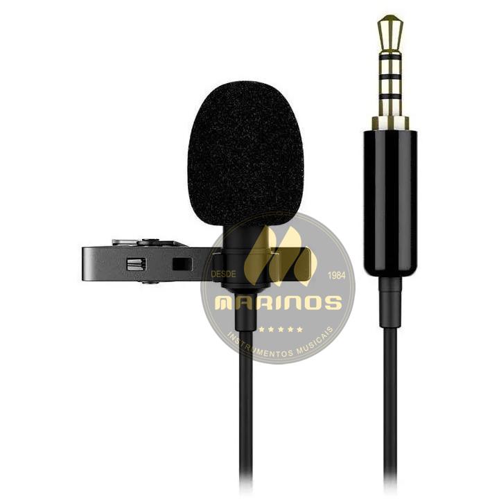 Microfone de Lapela MANCER Celular Smartphone MLP001