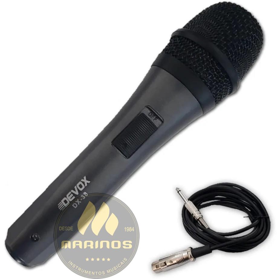 Microfone DEVOX Com Fio DX38