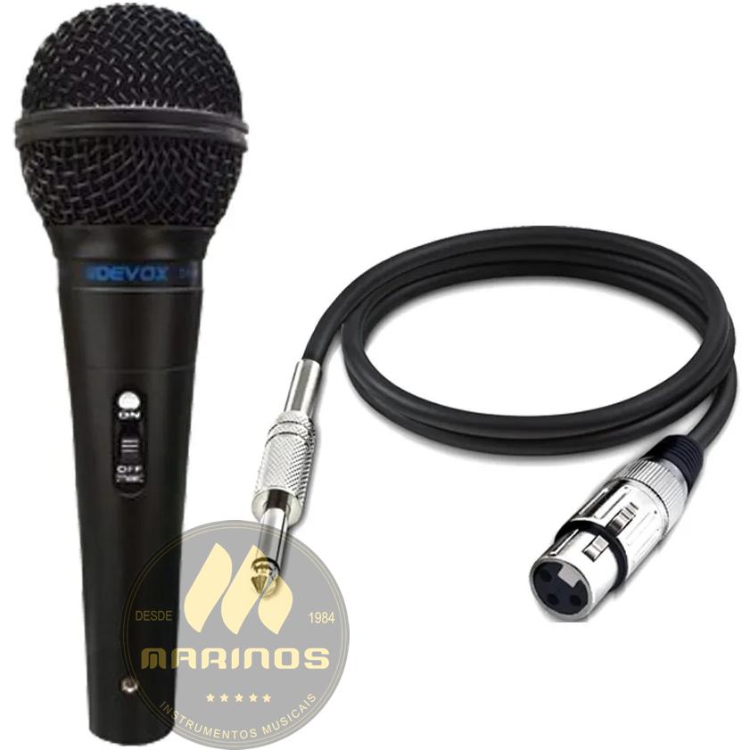 Microfone DEVOX Com Fio DX48