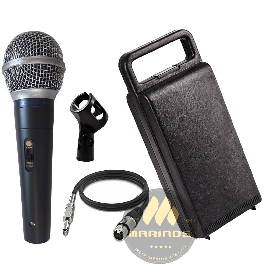 Microfone DEVOX Com Fio DX58S Chave e Maleta