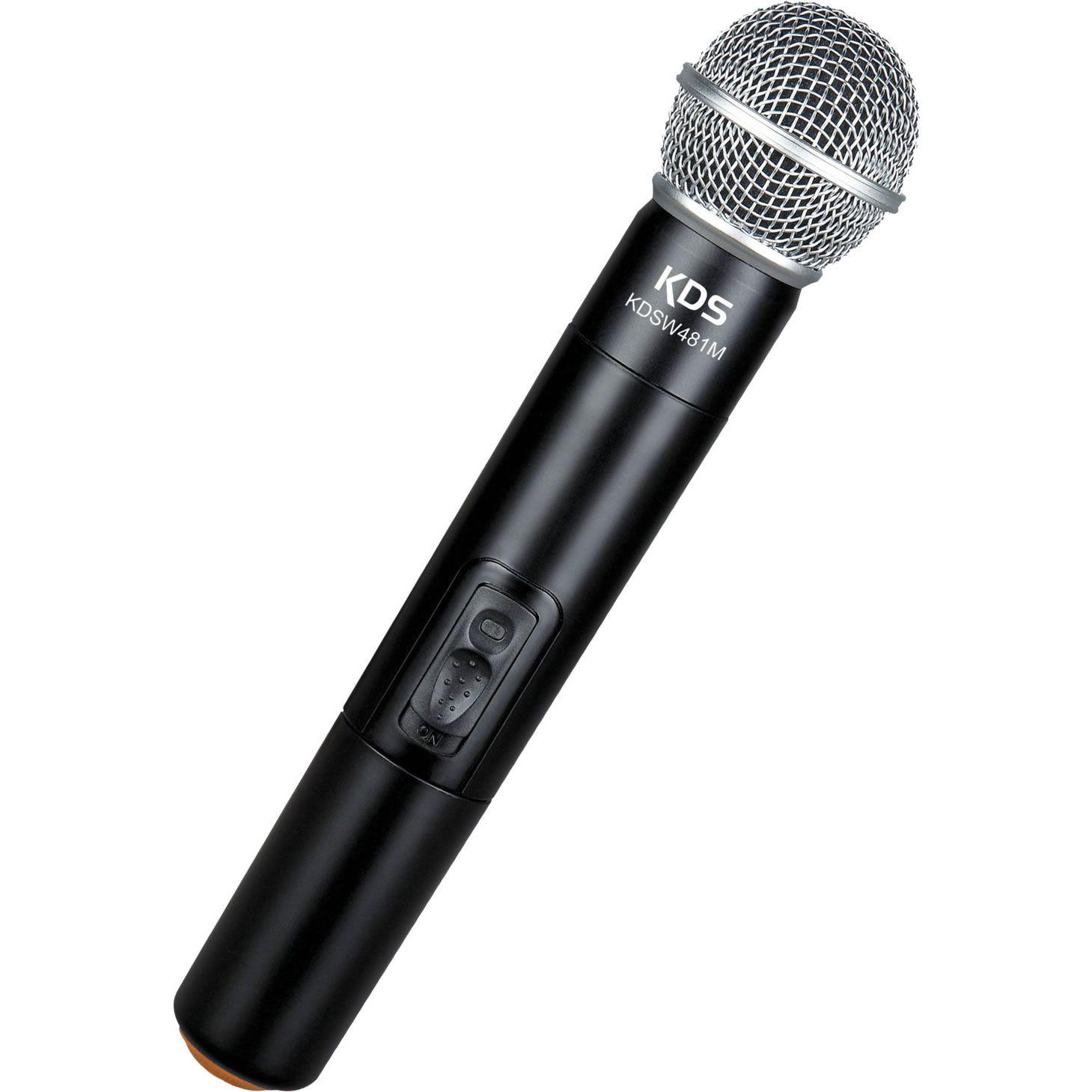 Microfone KADOSH Sem Fio Duplo de Mão UHF 16 Canais KDSW-482MM