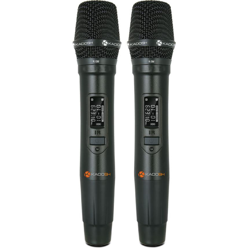 Microfone KADOSH Sem Fio Duplo de Mão UHF Digital K-502 M