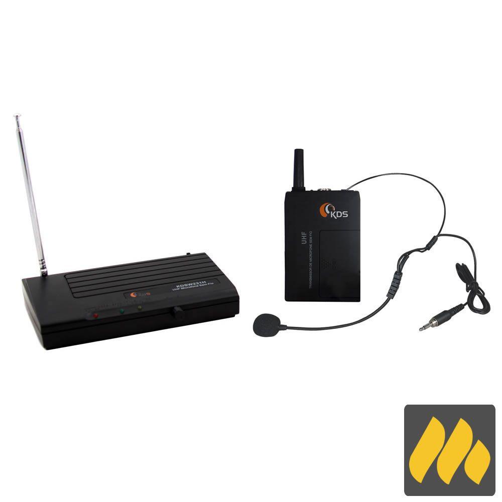 Microfone KADOSH Sem Fio Headset VHF K-231H