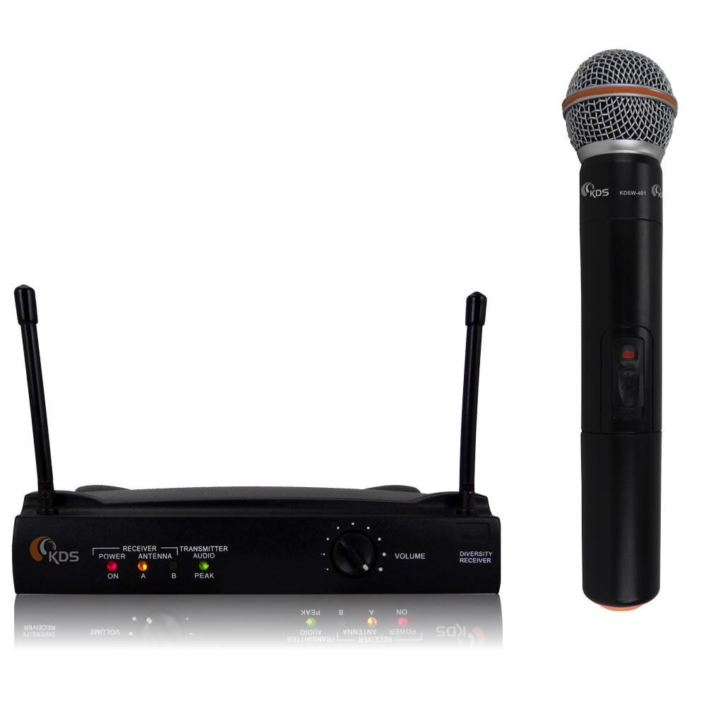 Microfone KADOSH Sem Fio Mão UHF K-401 M