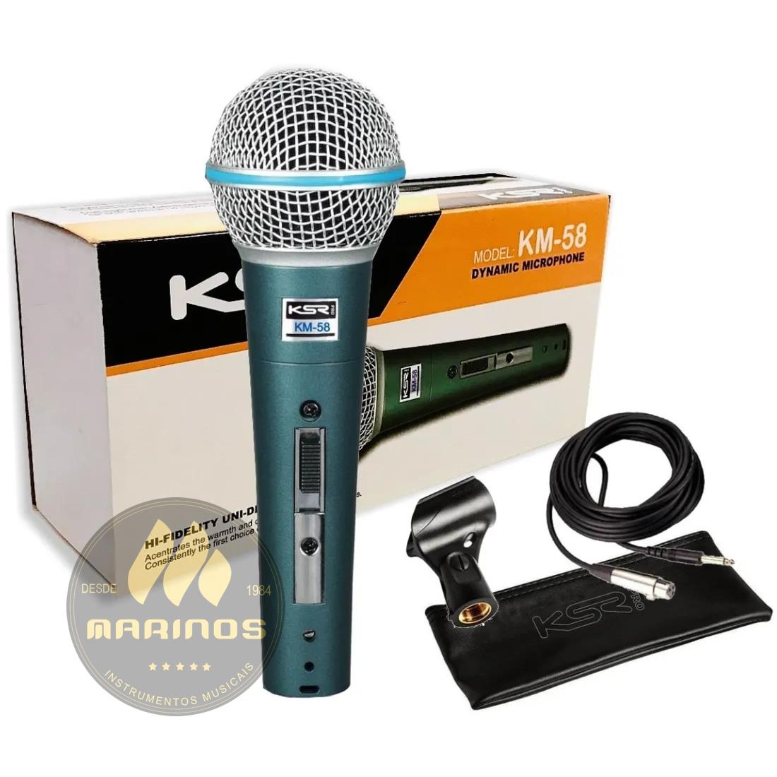 Microfone KSR Com Fio KM58