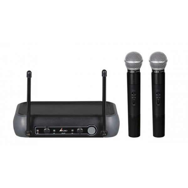 Microfone LIBO Sem Fio Duplo de Mão VHF LB-10V MM