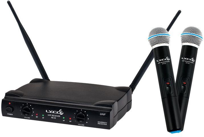 Microfone LYCO Sem Fio Duplo de Mão UH02 MM