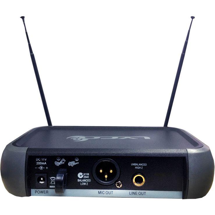 Microfone LYCO Sem Fio Duplo de Mão VHF VH202PRO MM