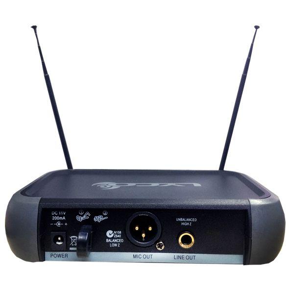 Microfone LYCO Sem Fio Duplo Headset Lapela VH202PRO HLHL