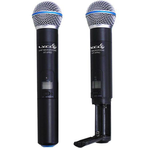 Microfone LYCO Sem Fio Duplo Mão Headset Lapela Instrumento UHXPRO02 MHLI