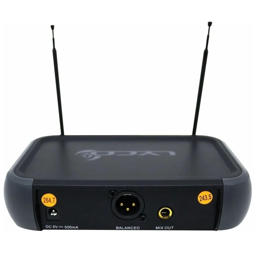 Microfone LYCO Sem Fio Duplo Mão Headset Lapela VH02MAX MHL