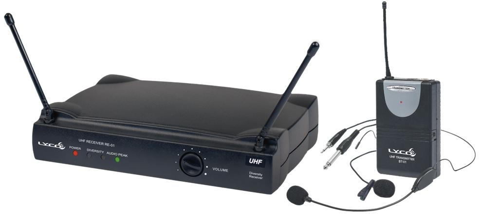 Microfone LYCO Sem Fio Headset Lapela Instrumento UH01 HLI