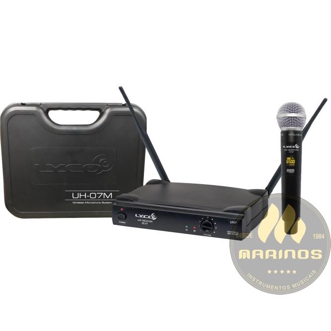 Microfone LYCO Sem Fio Mão Digital UH07 M
