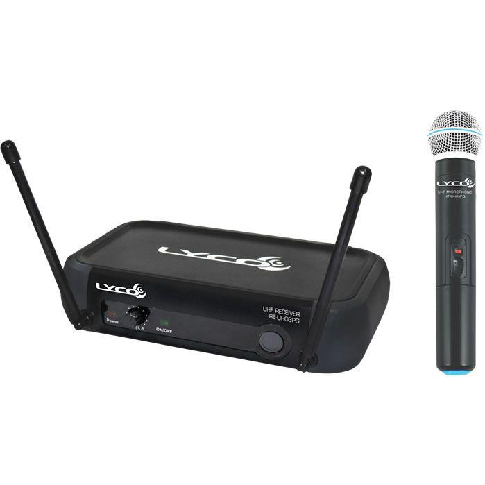 Microfone LYCO Sem Fio Mão UHF UH03PG M