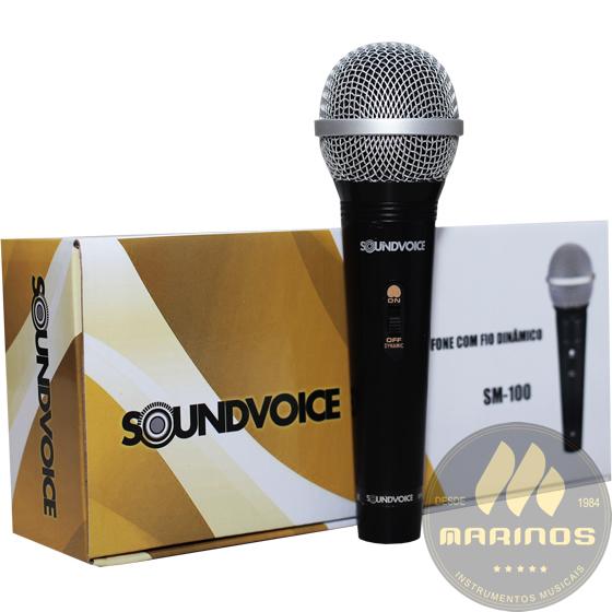 Microfone SOUNDVOICE Com Fio SM100