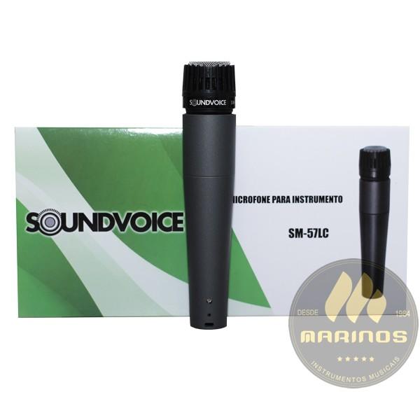 Microfone SOUNDVOICE Com Fio SM57LC