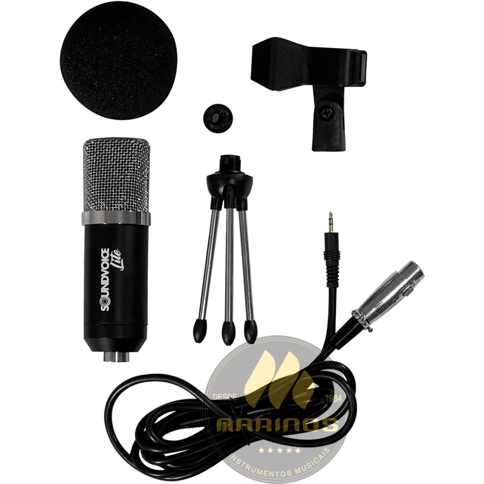 Microfone SOUNDVOICE Condensador de Captação LITE SOUNDCASTING 800