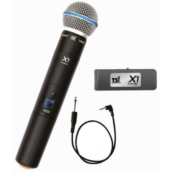 Microfone TSI Sem Fio Mão UHF TSI X1