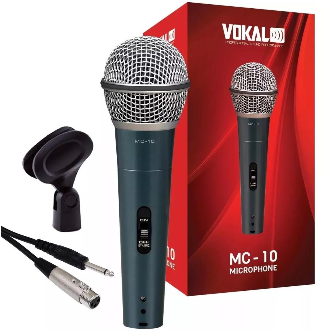 Microfone VOKAL Com Fio MC10