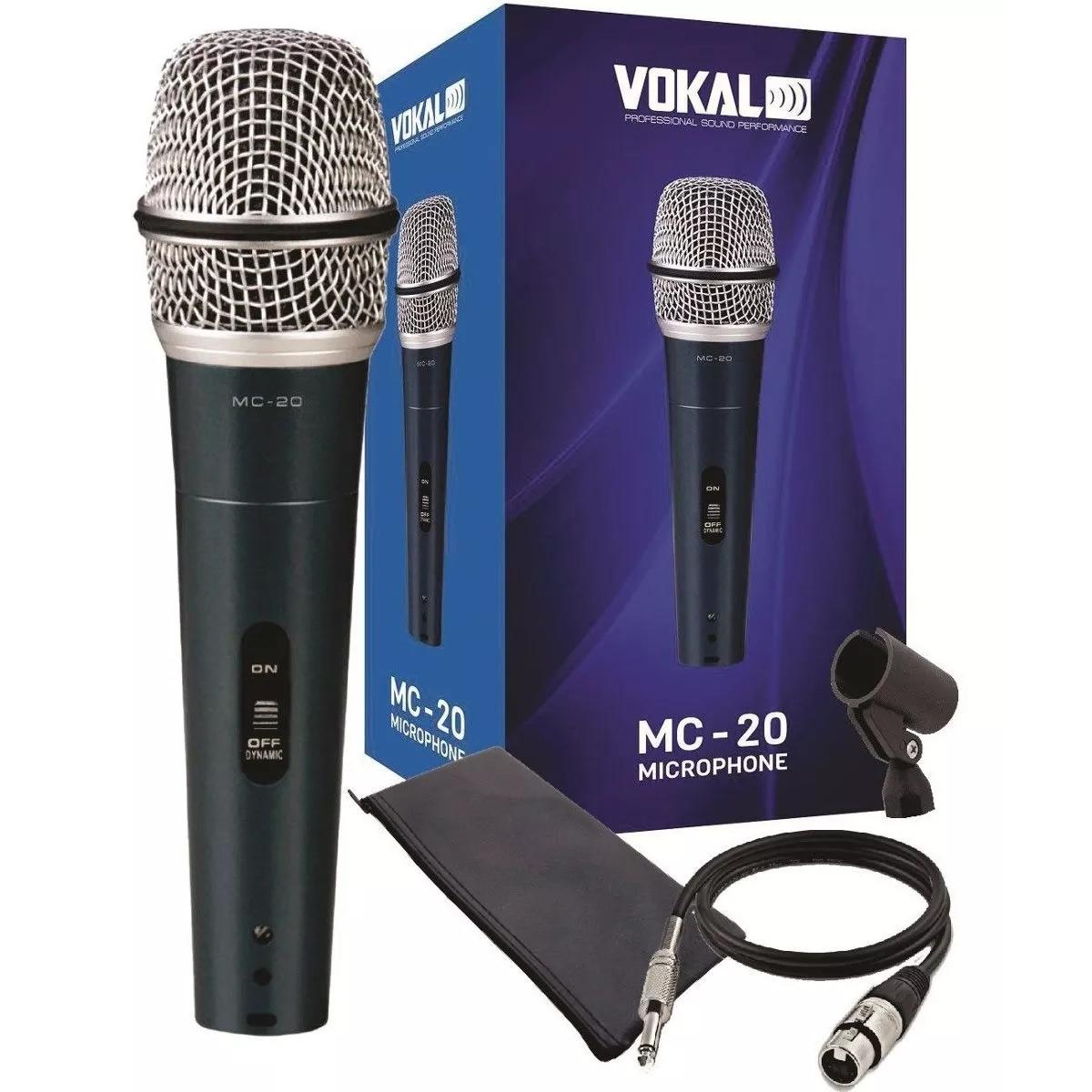 Microfone VOKAL Com Fio MC20