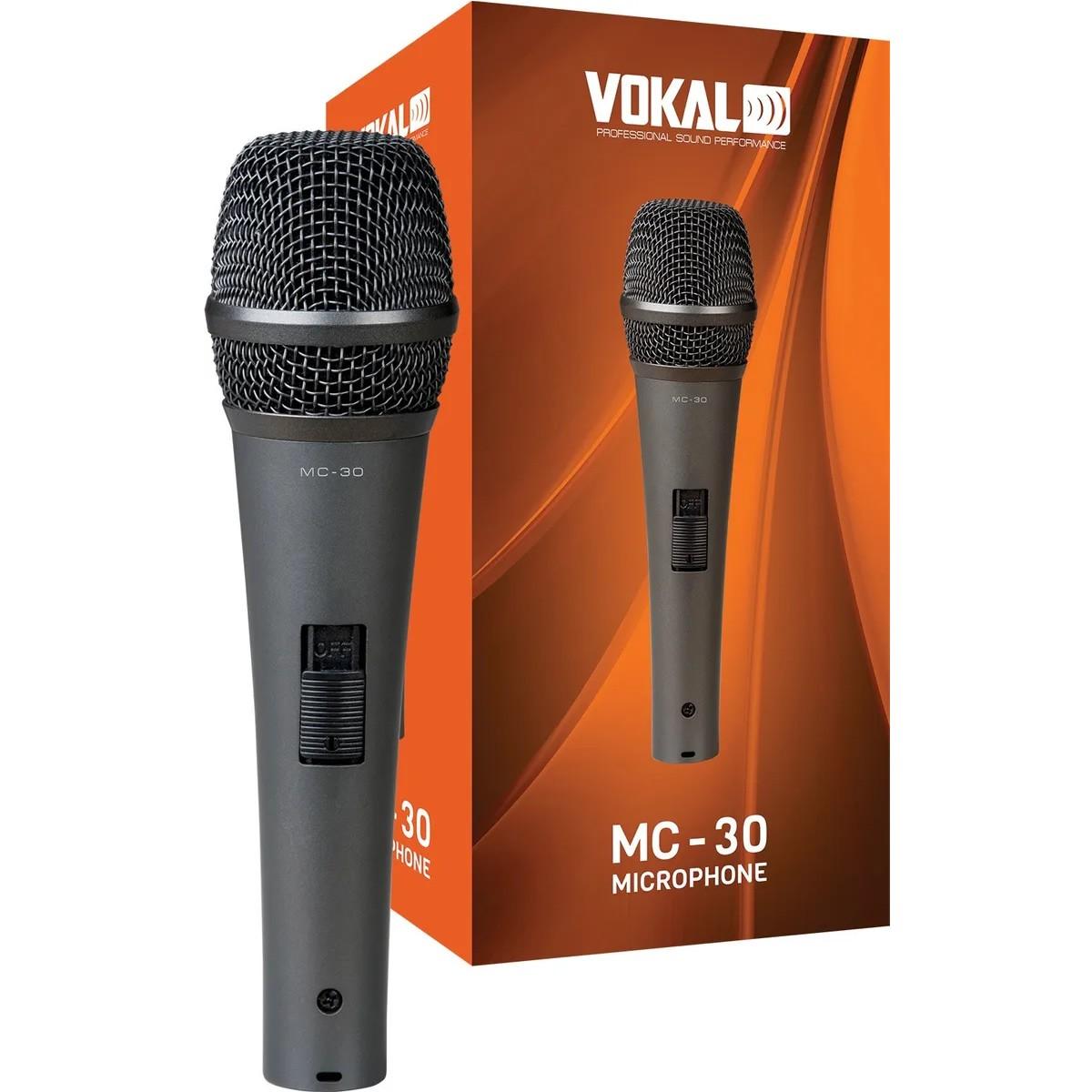 Microfone VOKAL Com Fio MC30