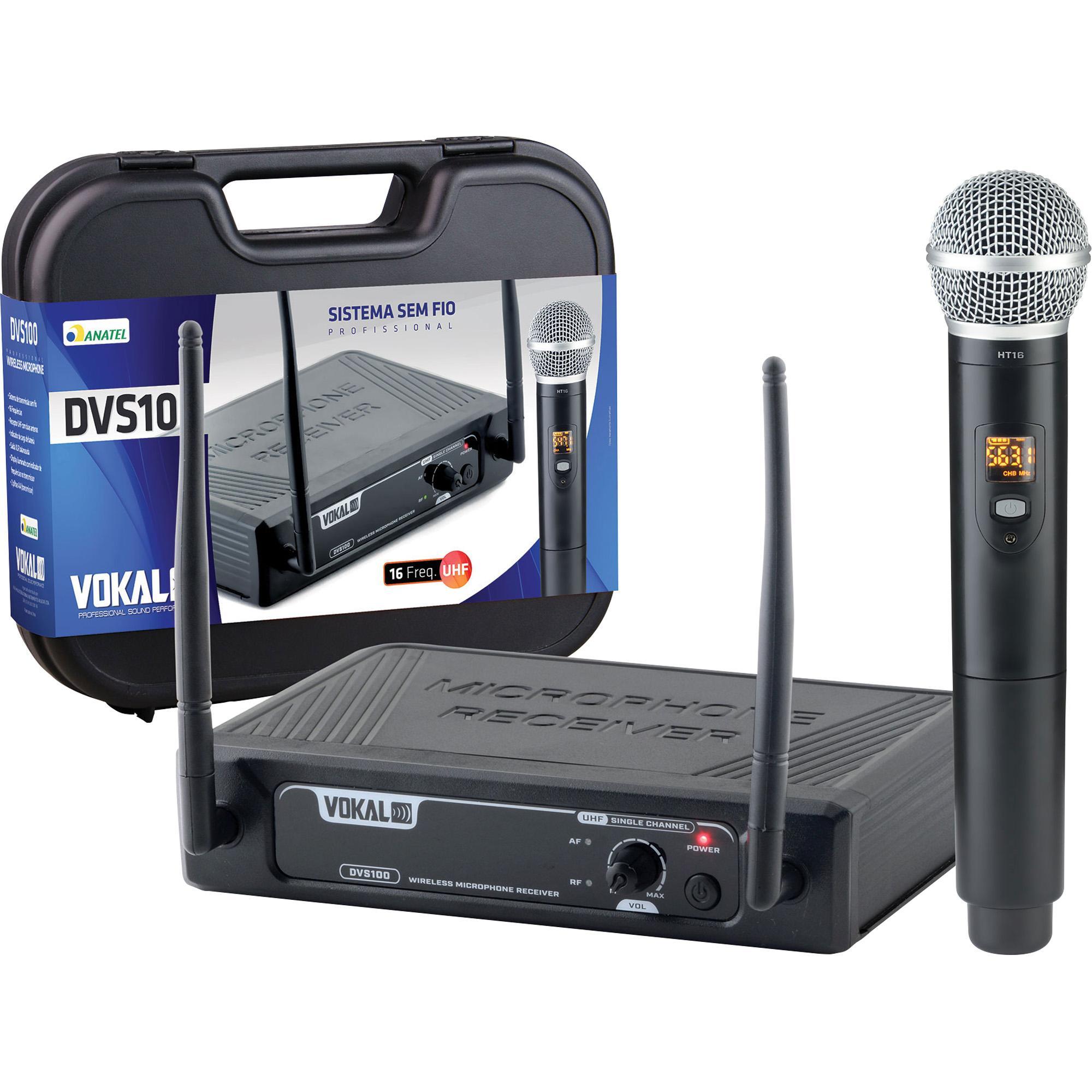 Microfone VOKAL Sem Fio Mão UHF DVS100SM