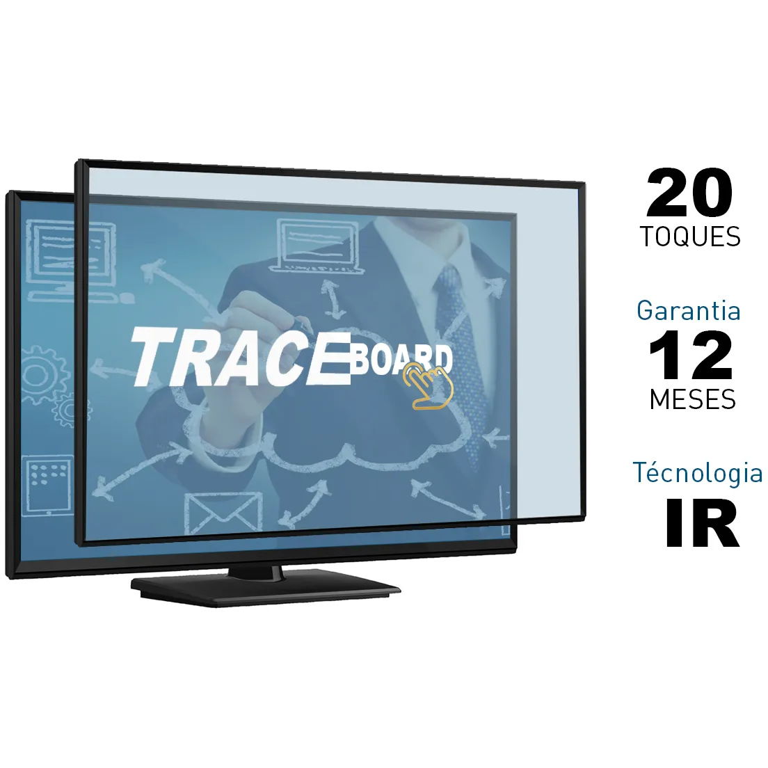 Moldura Touch Screen TRACEBOARD Frame Interativa 20 Toques 50