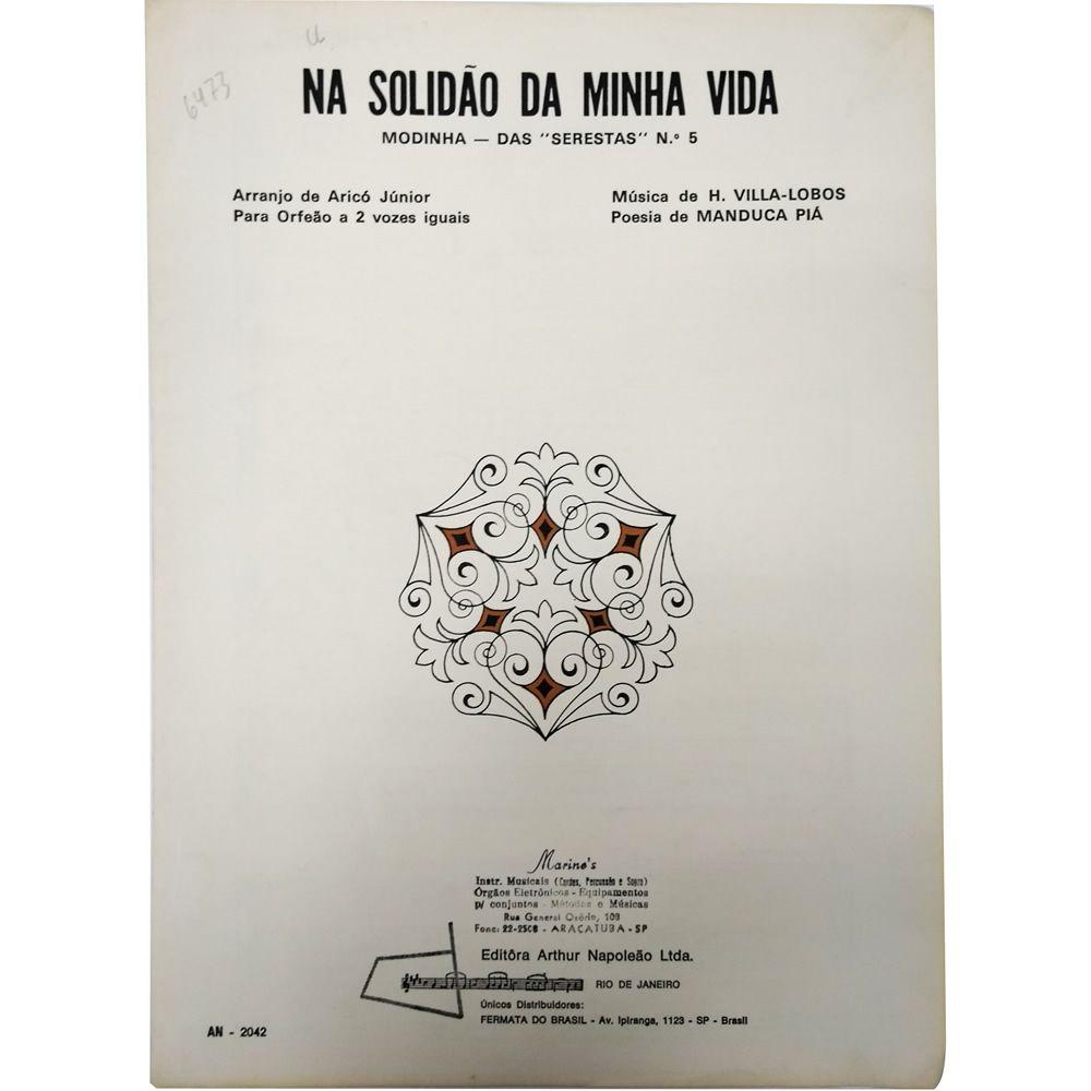 """Música Avulsa Na Solidão da Minha Vida - Modinha - Das """"Serestas"""" nº 5"""