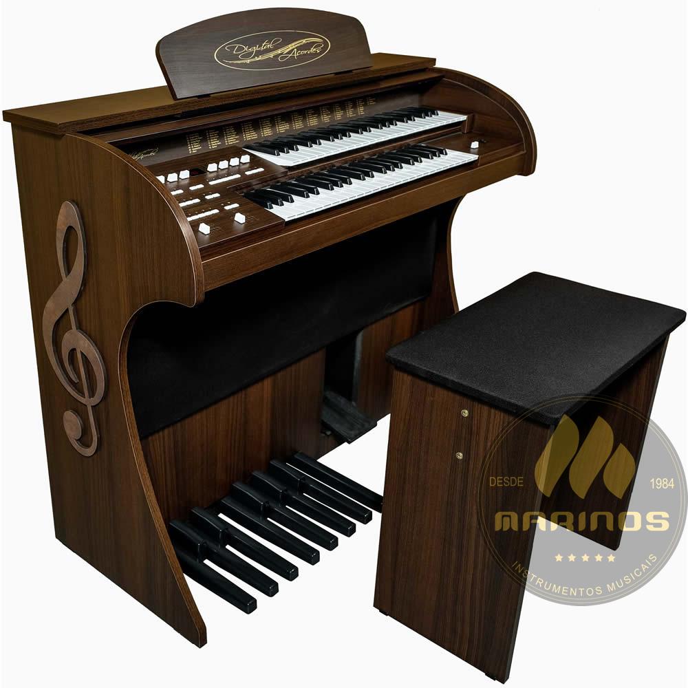 Órgão DIGITAL ACORDES 2D Tradicional FOSCO MARROM