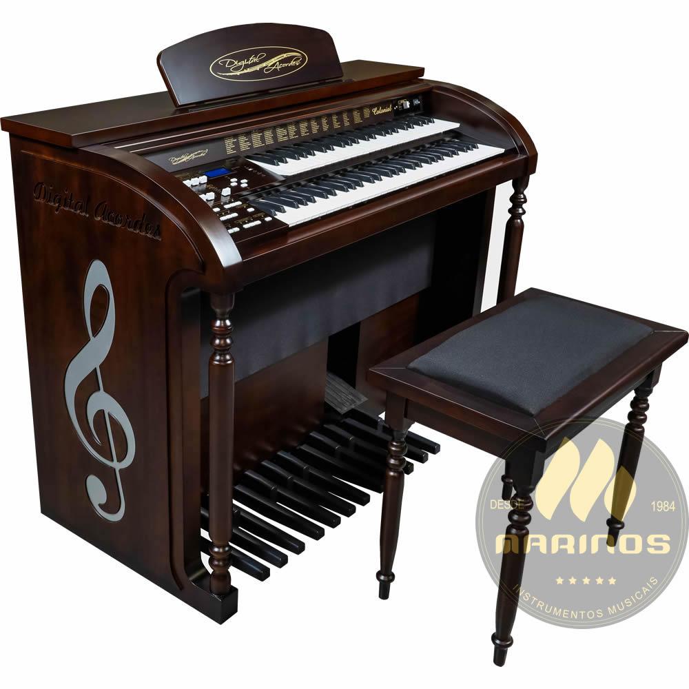 Órgão DIGITAL ACORDES AC500 Colonial ACETINADO TABACO