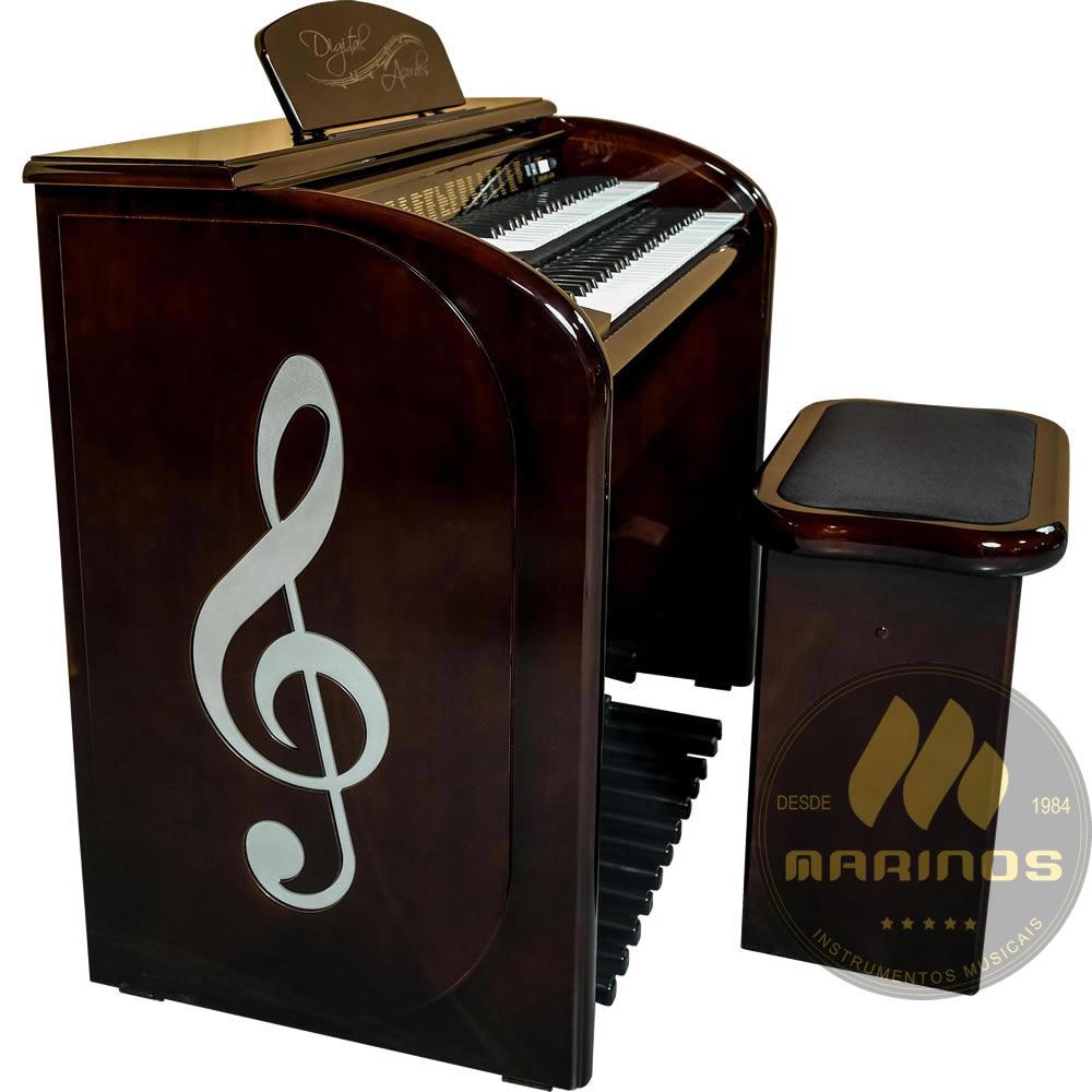 Órgão DIGITAL ACORDES AC500 Top Elegance ALTO BRILHO IMBUIA