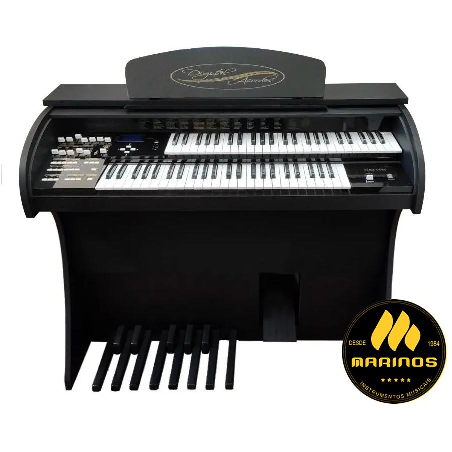 Órgão DIGITAL ACORDES CLASSIC Compacto FOSCO PRETO